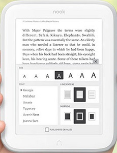 Nook Glowlight Fonts